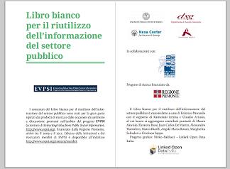 Prima pagina del Libro Bianco per il riutilizzo dell'informazione del settore pubblico